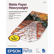 "EPSON Matte Paper Heavyweight 8.5"" x 11"" (50 sheets/pkg)"