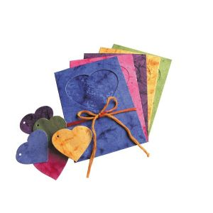 Marble Heart Cut Outs Multi - Tri-Fold
