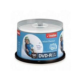 DVD-R 4.7GB 8X Thermal Printable, White (50/Spindle)