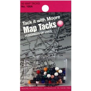 MOORE Map Tacks