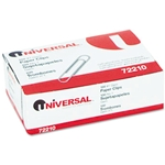 UNIVERSAL Paper Clips, Smooth Finish, Silver, (100/box)