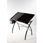 MARTIN® Design Line Glass Top Drawing Table