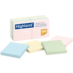 Sticky Note Pads, 3 x 3, Assorted Pastel, 100 Sheets