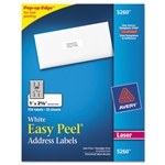 Avery® Easy Peel Laser Address Labels, 1 x 2 5/8, White, 750/Pack
