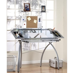 Studio RTA Design Futura Tower Glass Top Drawing/Drafting Table