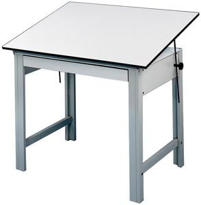 ALVIN® DesignMaster 4-Post Compact Drawing Table