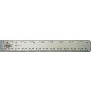 C-THRU Flexible Stainless Steel Cork Back Rulers