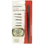 Manuscript Leonardt Dip Pen & Nibs Drawing & Mapping Set
