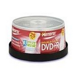DVD+R Dual Layer 8.5GB 2.4X Branded (25/Spindle)