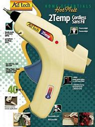 ADHESIVE TECH Cordless Two-Temp Glue Gun