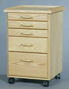 Oak Taboret   5-Drawer