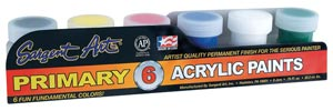 Primary Acrylic Paint Set