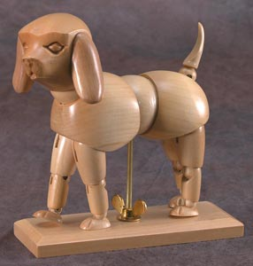 Heritage Wooden Animal Mannequins - Puppy CW402