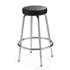 Spacesaver Adjustable-Height Stool