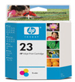 HP #23 Tri-Color InkJet Print Cartridge (Twin-Pack) (1,280 Yield)