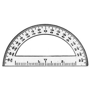 "3 1/2"" Introductory Protractor 12/box."