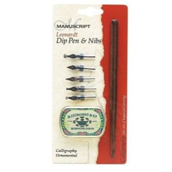 MANUSCRIPT Leonardt Dip Pen & Nibs Calligraphy Ornamental Set