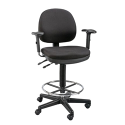 ZENITH DRAFTING CHAIR BLACK, ALVIN® Zenith™ Drafting Chair