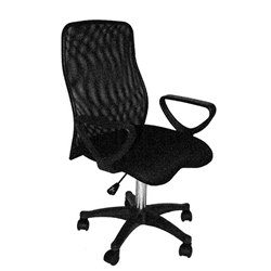 MARTIN Comfort Mesh Executive Desk Height Chair, Black