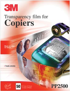Transparency Film for Plain Paper Copiers