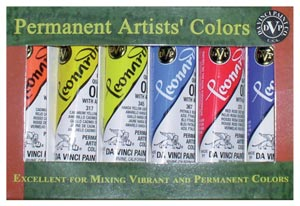 Leonardo Artists' Oil Colors with Alkyd Resin Sets