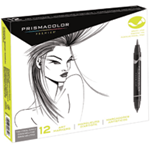 PRISMACOLOR MARKER SET 12 - NUETRAL GRAY COLORS